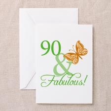 90 & Fabulous Birthday Greeting Cards (Pk of 20) for