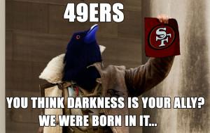 Bane Raven Meme Super Bowl XLVII 2013 by nine-tailedgodzilla