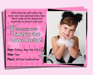 Ballet Recital Invitations http://www.etsy.com/listing/98524319/ballet ...