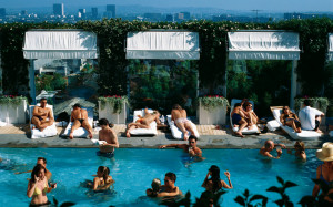 Pictured above a pool party at Mondrian Los Angeles