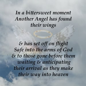... And Has Set Off On Flight Safe Into The Arms Of God ~ Sympathy Quote