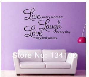famous-quote-live-laugh-Waterproof-and-Easily-Removable-Vinyl-Wall-Art ...