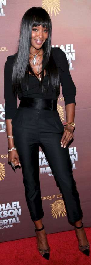 Naomi Campbell - I love jumpsuits!Black Shades, Naomi Campbell'S ...