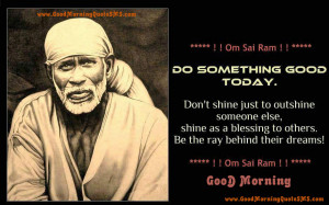 Sai Baba Good Morning SMS - Sai Blessings Quotes, Wishes, Message ...