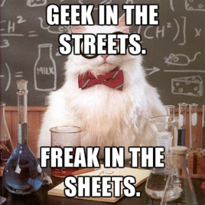 Geek In The Streets. Freak In The Sheets.