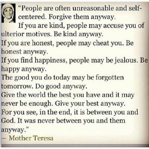 Mother Theresa ~ my hero!