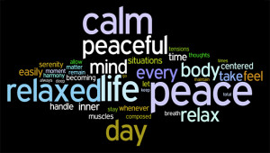 calm and relaxed affirmations wordle