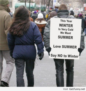 We hate winter - Funny Pictures, Funny Quotes, Funny Memes, Funny Pics ...