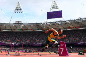 Photo: Making history: Oscar Pistorius, the Blade Runner, became the ...