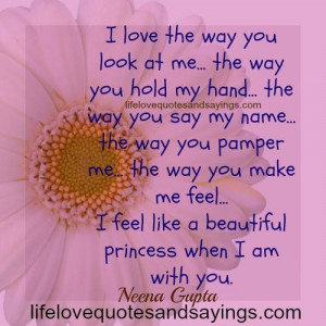 Love the Way You Make Me Feel Quotes