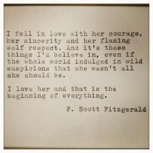 Scott Fitzgerald love quote