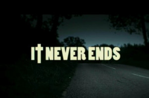 ... me the horizon, end, ends, it never ends, never, the end, typography