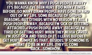 Push People Away Quotes