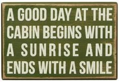 Good Day At The Cabin Quote Handpainted Wood Sign Lake Cottage Decor ...