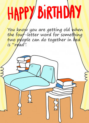 Funny birthday card about getting old