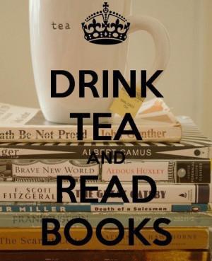 tea / чай стоит на стопке книг. Drink tea ...