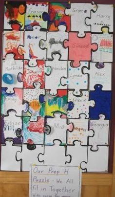 ... Puzzles Pieces, Cardboard Puzzles, Schools Activities, Schools Ideas