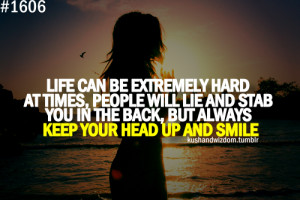 Extremely Hard At Times, People Will Life Lie And Stab You In The Back ...