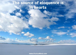 ... of eloquence is in hearts - John Stuart Mill Quotes - StatusMind.com