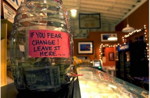 Now here's a clever way of asking for tips without actually asking! I ...