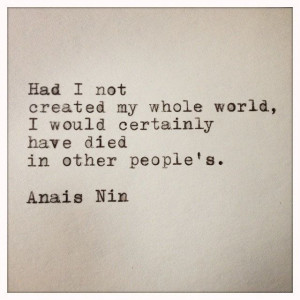 anais nin quote made on typewriter and framed $ 12 00 via etsy