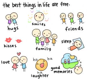 las mejores cosas de la vida son gratis