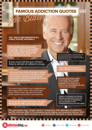 Joe Biden's quotes on substance abuse and drug laws (INFOGRAPHIC)
