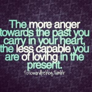 Anger hurts.