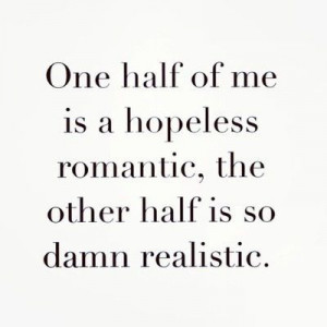 One half of me...