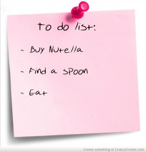 cute, nutella funny, pretty, quote, quotes, yum yum nutella