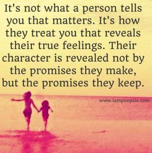 Promises quote via www.IamPoopsie.com