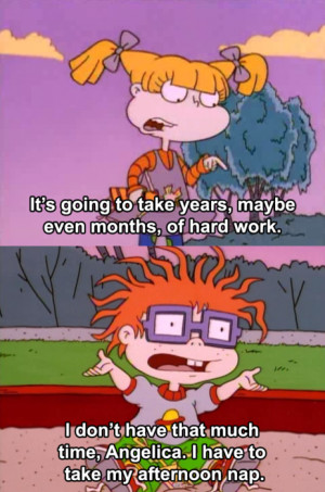 Posted at 2:45 PM Permalink ∞ Tags: rugrats angelica chuckie