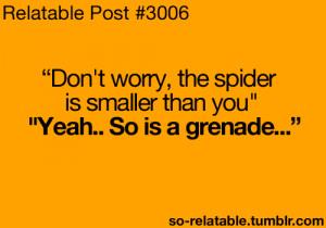 LOL funny humor jokes fear joke fears spiders spider