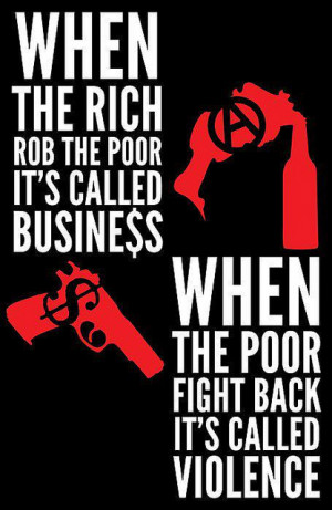 Posters like these have been used by anti-Capitalism activists to ...