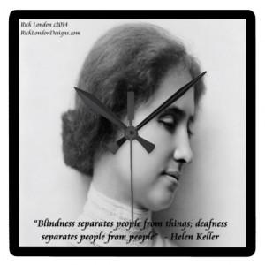 Helen Keller Famous Deaf/Blind Quote Wall Clock Square Wallclock