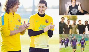 Carles Puyol David Villa