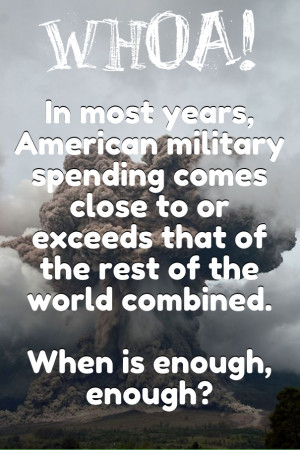 In most years, american military spending comes close to or exceeds ...