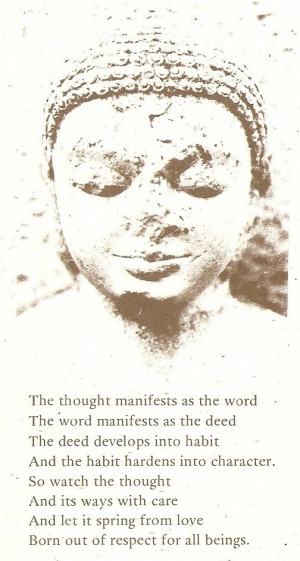 Buddha dharma (bookmark from Banyen Books, Vancouver)