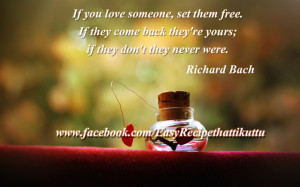 ... free. If they come back they're yours; if they don't they never were