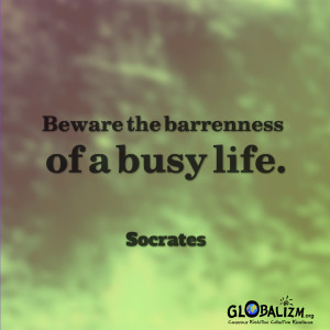 Too busy being busy!