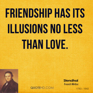 Stendhal Friendship Quotes