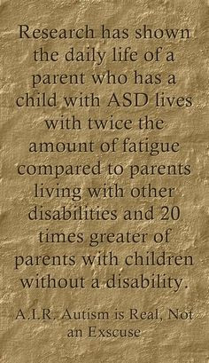 Parents of children with disabilities. Take care of yourself!