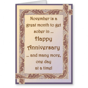 Sobriety Birthday Quotes Sober november aa anniversary