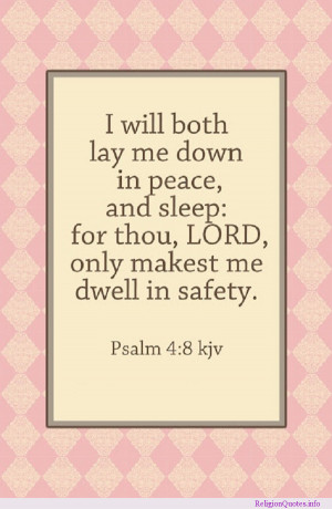 Bedtime prayer and psalm.