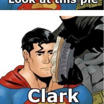 Sad Superman Doesn't Want Any Of Batman's Pie Meme Comic