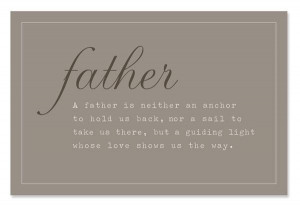 Father's Day - Sweet Quote about Dad-Card, Gift Tag or Frame It