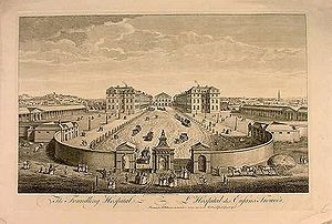The Foundling Hospital. The building has been demolished.