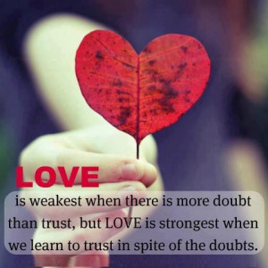 ... : Doubts Picture Quotes , Love Picture Quotes , Trust Picture Quotes