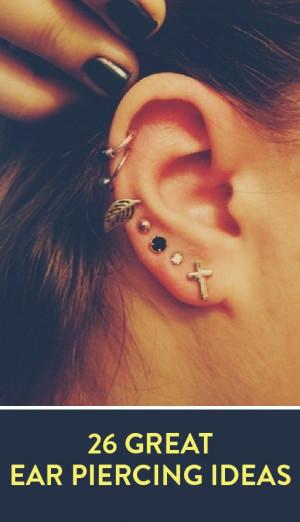 26 great ear piercing ideas