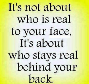 Hate two-faced people